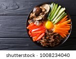 korean cuisine  bibimbap with... | Shutterstock . vector #1008234040