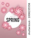 hello spring  floral greeting... | Shutterstock .eps vector #1008235558