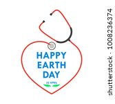 happy earth day logo with... | Shutterstock .eps vector #1008236374