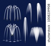 realistic water fountain set.... | Shutterstock .eps vector #1008239908