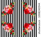 seamless pattern with beautiful ... | Shutterstock .eps vector #1008240544