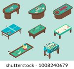 table game icon set. vector... | Shutterstock .eps vector #1008240679