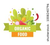 organic food banner. natural... | Shutterstock .eps vector #1008240796