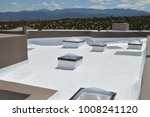 white roof with sky | Shutterstock . vector #1008241120