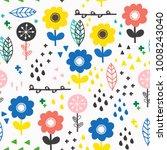 scandinavian style flowers.... | Shutterstock .eps vector #1008243040