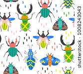 scandinavian style bugs. hand... | Shutterstock .eps vector #1008243043