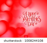 valentines day party flyer with ... | Shutterstock .eps vector #1008244108