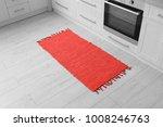 colorful rug on floor in kitchen | Shutterstock . vector #1008246763