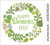 8 march.women day greeting card.... | Shutterstock . vector #1008248260