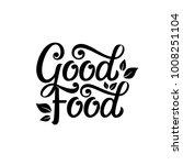 good food typography vector... | Shutterstock .eps vector #1008251104
