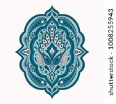 floral indian paisley pattern...   Shutterstock .eps vector #1008255943