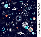 space galaxy constellation... | Shutterstock .eps vector #1008264640