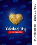 valentines day greeting card... | Shutterstock .eps vector #1008267580