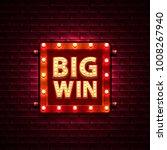 big win casino banner text on... | Shutterstock .eps vector #1008267940