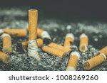 smoking tobacco cigarettes... | Shutterstock . vector #1008269260