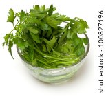 bunch of parsley in a glass... | Shutterstock . vector #100827196