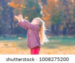 beautiful little blonde hair... | Shutterstock . vector #1008275200