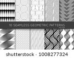 collection of black and white... | Shutterstock .eps vector #1008277324