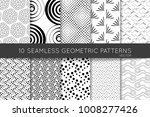 collection of black and white... | Shutterstock .eps vector #1008277426
