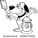 black and white illustration of ... | Shutterstock .eps vector #1008279610