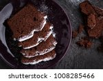 homemade chocolate pound cake.... | Shutterstock . vector #1008285466