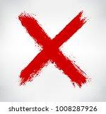 grunge letter x.vector cross... | Shutterstock .eps vector #1008287926