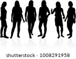 people silhouettes.vector works ... | Shutterstock .eps vector #1008291958