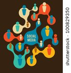 social media and network...   Shutterstock .eps vector #100829350