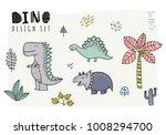 set of dinosaurs. vector... | Shutterstock .eps vector #1008294700