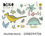 set of dinosaurs. vector... | Shutterstock .eps vector #1008294706