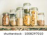various uncooked cereals ... | Shutterstock . vector #1008297010