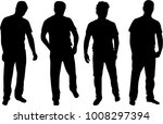 people silhouettes. vector... | Shutterstock .eps vector #1008297394