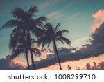 scenic sunset at south beach ... | Shutterstock . vector #1008299710