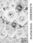 background paper roses | Shutterstock . vector #1008300274