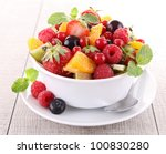 fresh fruits salad | Shutterstock . vector #100830280