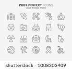 thin line icons set of hospital ... | Shutterstock .eps vector #1008303409