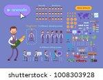 big set for animation business... | Shutterstock .eps vector #1008303928