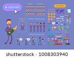 big set for animation business... | Shutterstock .eps vector #1008303940