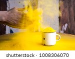 bright yellow colour for indian ... | Shutterstock . vector #1008306070