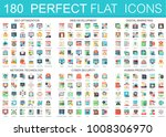 180 vector complex flat icons... | Shutterstock .eps vector #1008306970