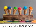 bright colours in shapes of ice ... | Shutterstock . vector #1008312436