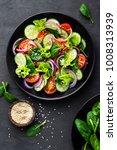 healthy vegetable salad of... | Shutterstock . vector #1008313939