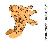 the head of a giraffe on a...   Shutterstock .eps vector #1008314224
