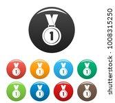 medal icon. simple illustration ... | Shutterstock . vector #1008315250