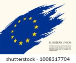 european union flag vector... | Shutterstock .eps vector #1008317704