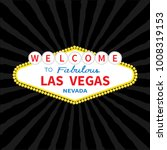 welcome to las vegas sign icon. ... | Shutterstock . vector #1008319153