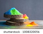 bright colours on sawed wood... | Shutterstock . vector #1008320056