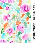 cute  painted watercolor flower ... | Shutterstock . vector #1008325543