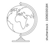 geography icon. outline... | Shutterstock . vector #1008330184