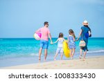 young family on vacation have a ... | Shutterstock . vector #1008333430